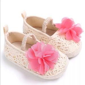 Other - 0-6 Months Crotchet Ballet Pink Flower Flats